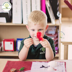 Montessori Learning with open-ended natural materials