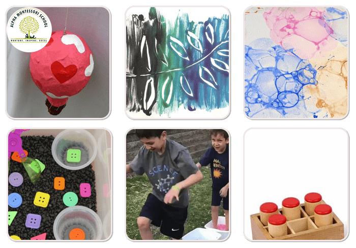 Process Art and Sensorial Activities-Montessori activities at home