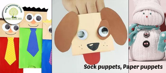 Sock Puppet & Paper Puppet - Alpha Montessori School