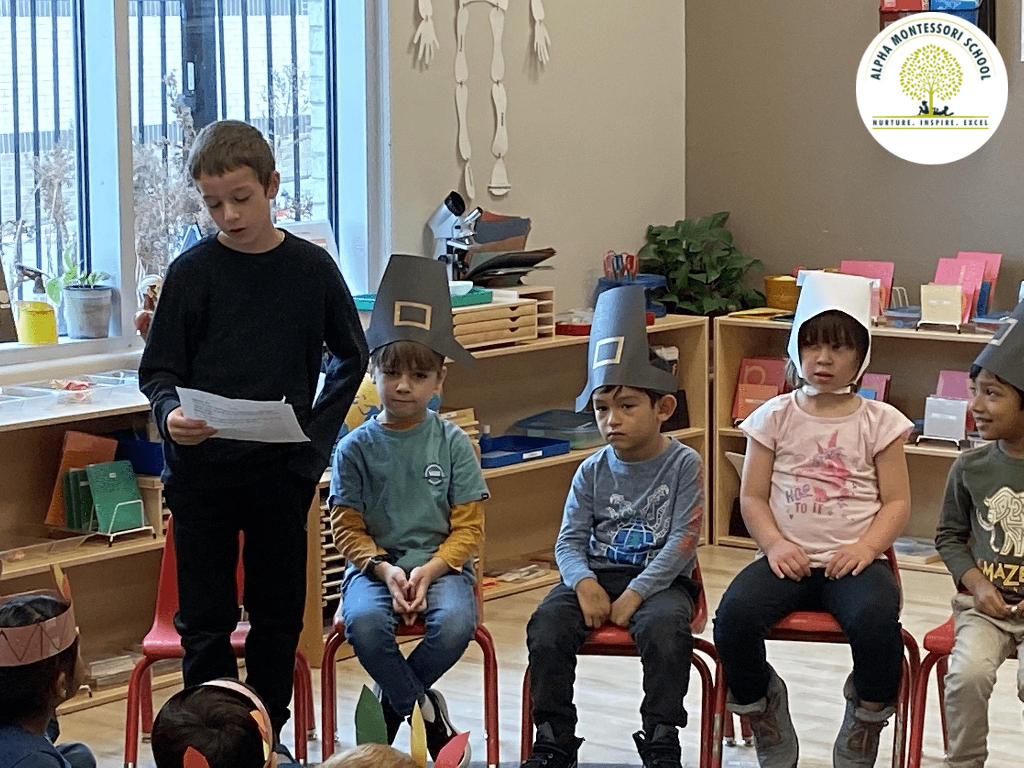 Elementary Thanksgiving at Alpha Montessori School