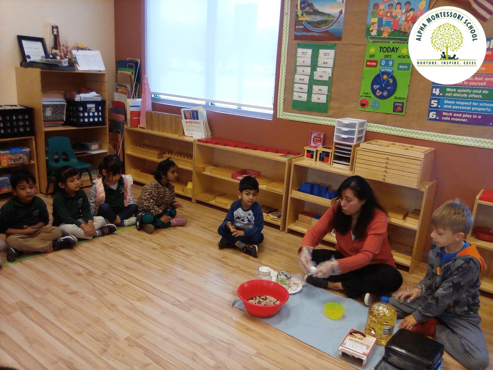 Making Brownies in Alpha Montessori School