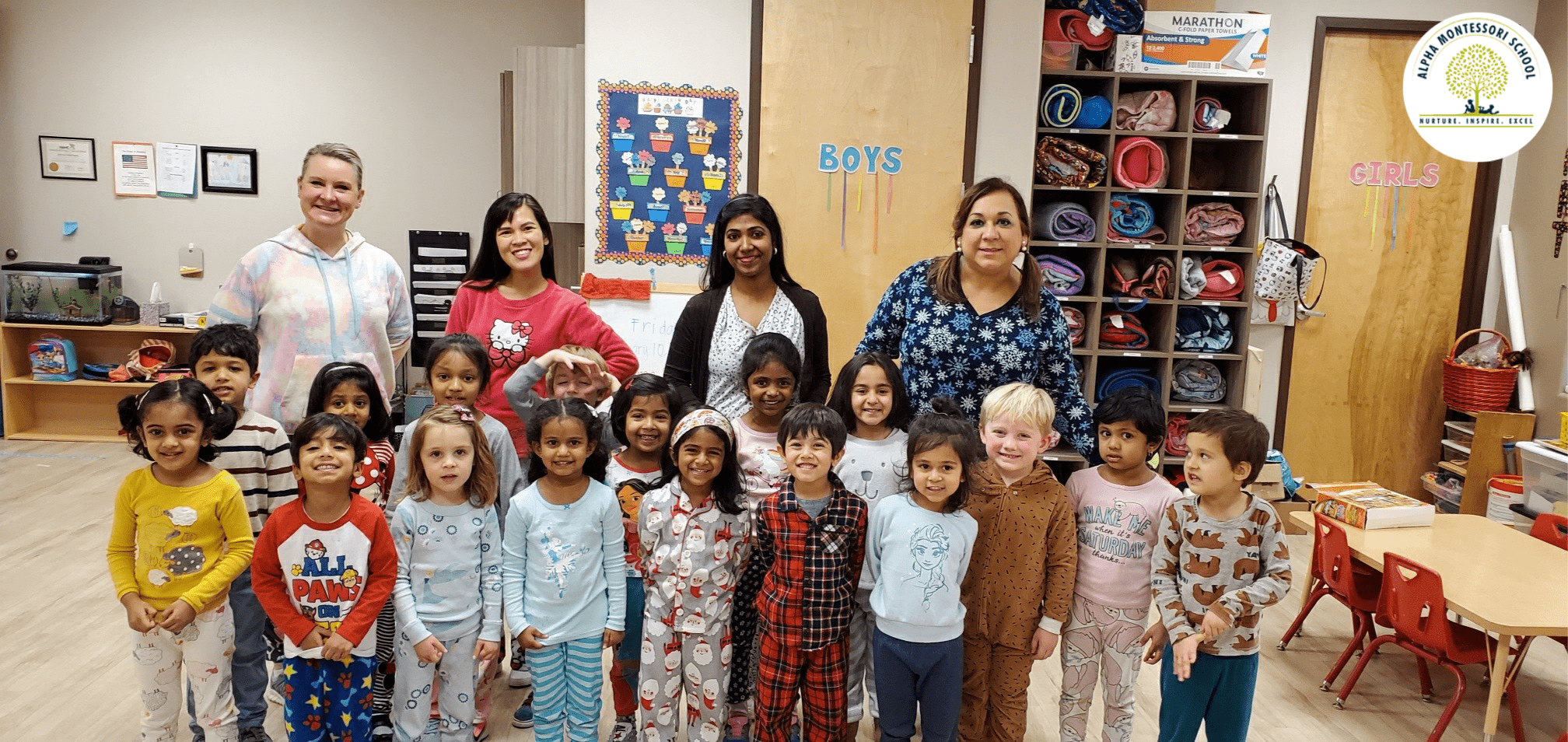 Pajama Day at Alpha Montessori School
