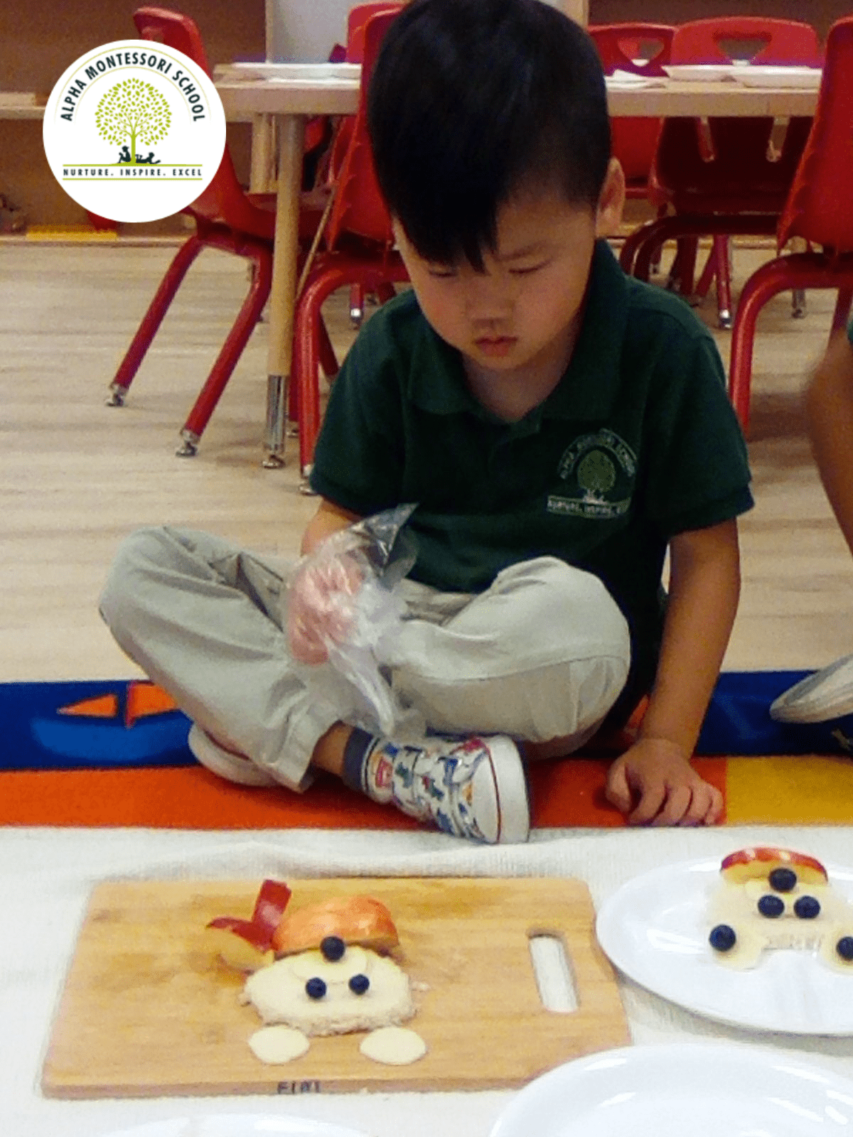Polar Bear Snack Preparation - Alpha Montessori