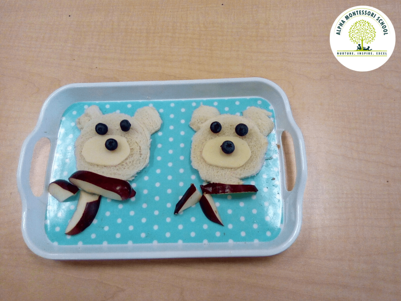 Polar Bear Snack Preparation in Alpha montessori