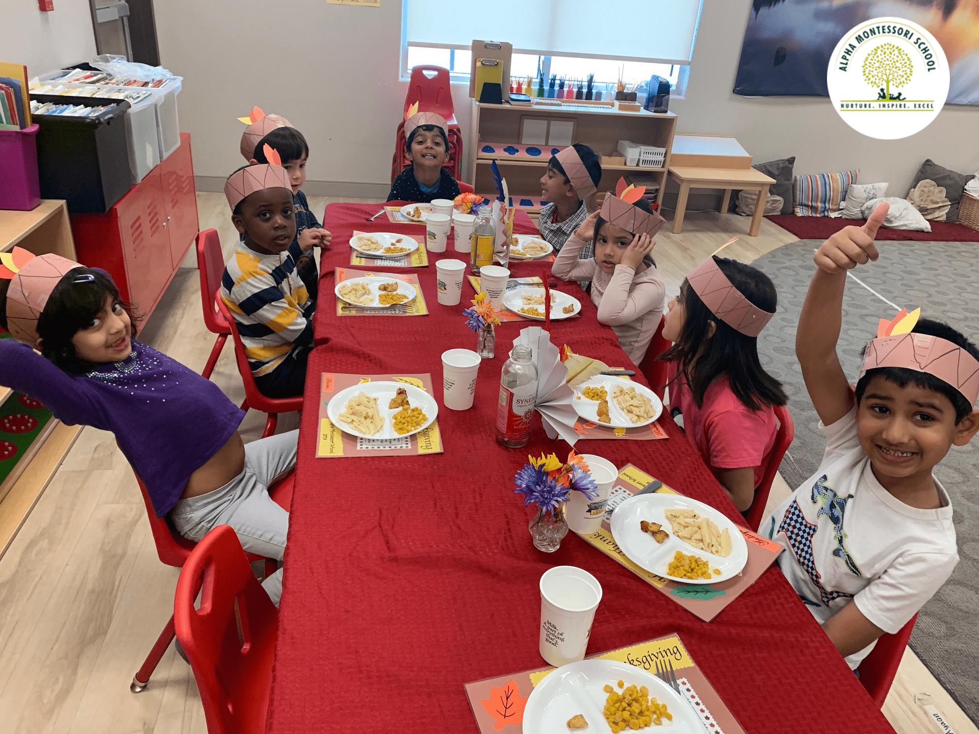 Thanksgiving feast 2019 - Alpha Montessori