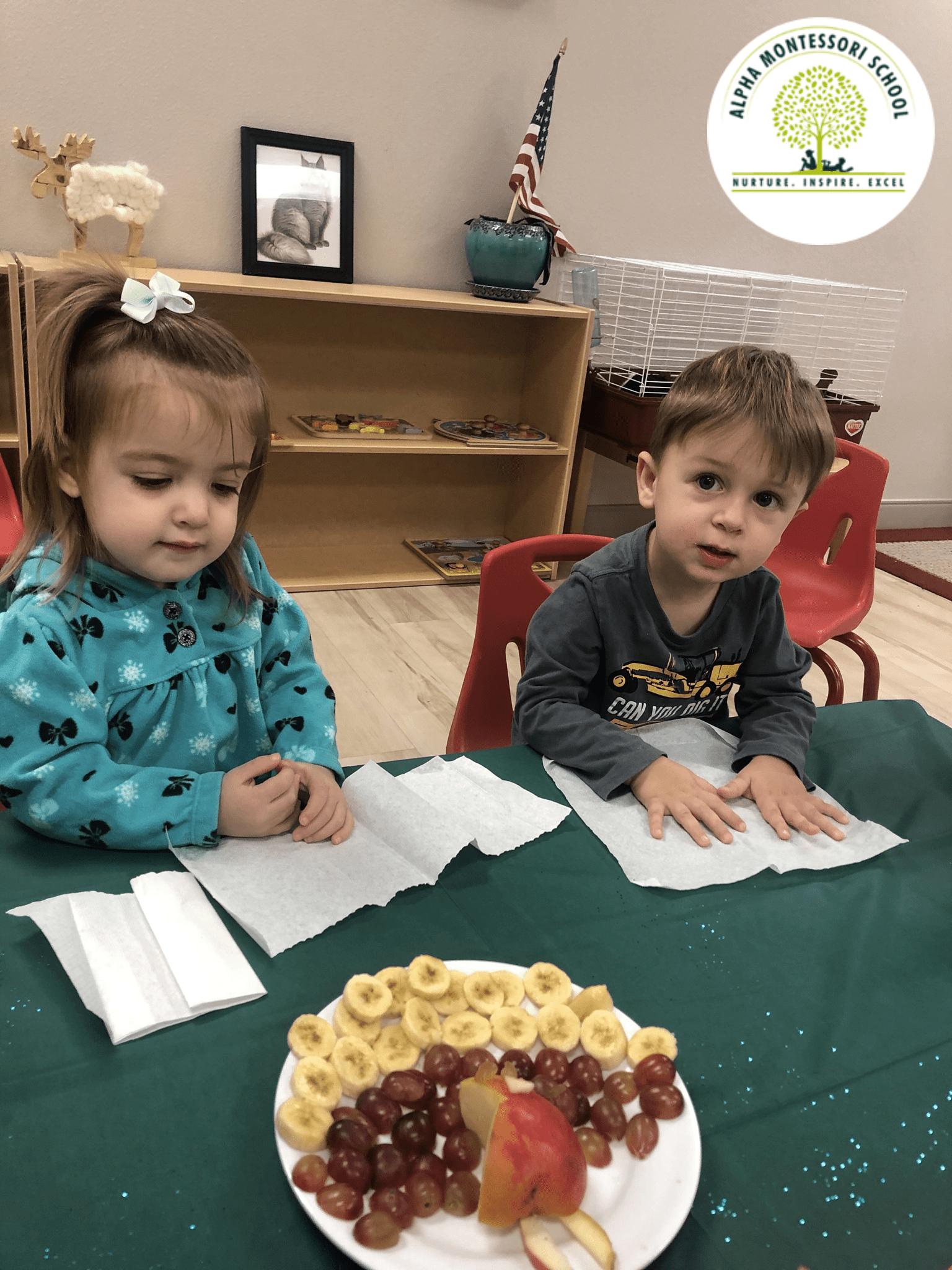 Thanksgiving feast 2019 in Alpha Montessori