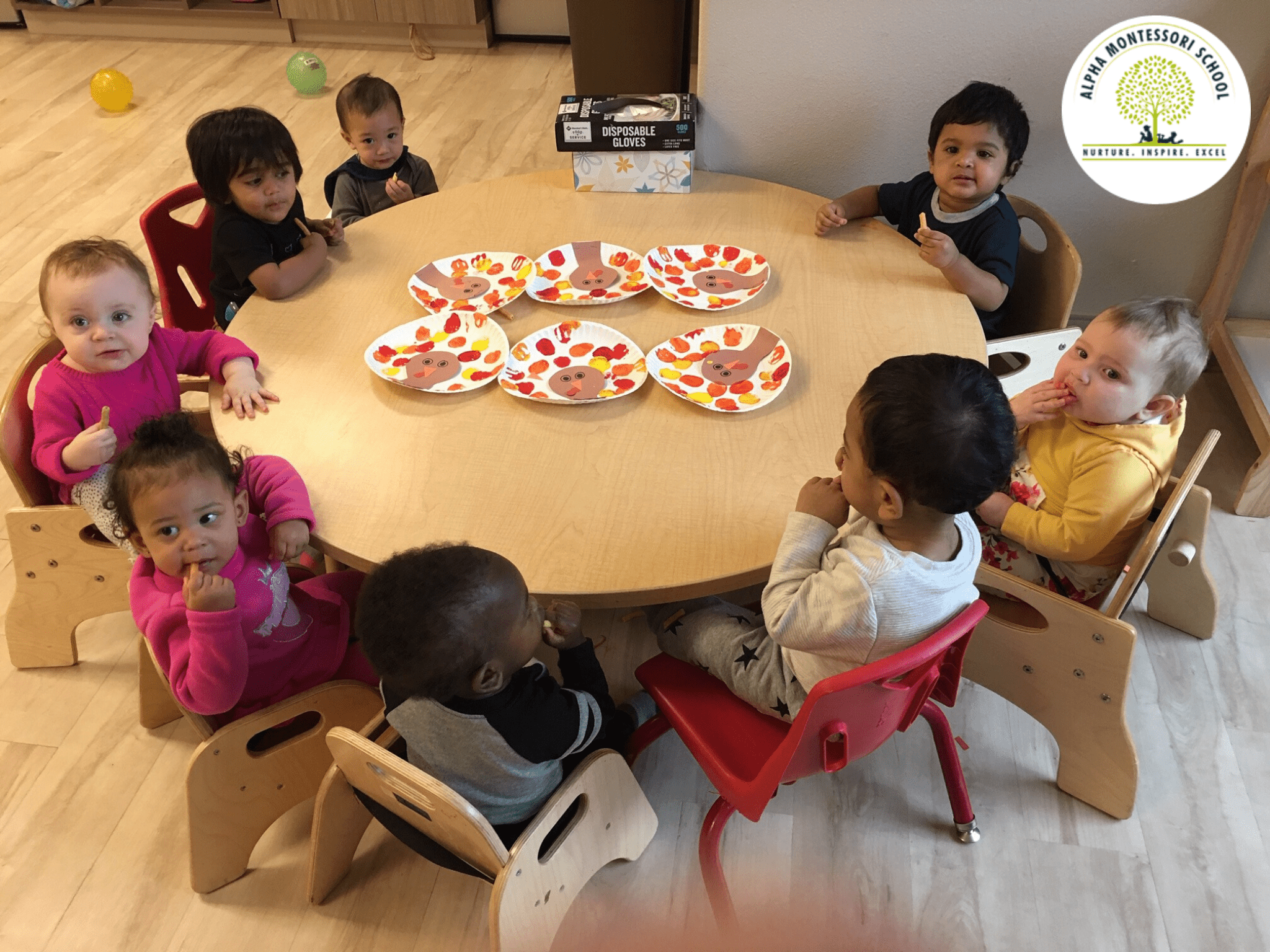 Toddlers Thanksgiving at Alpha Montessori