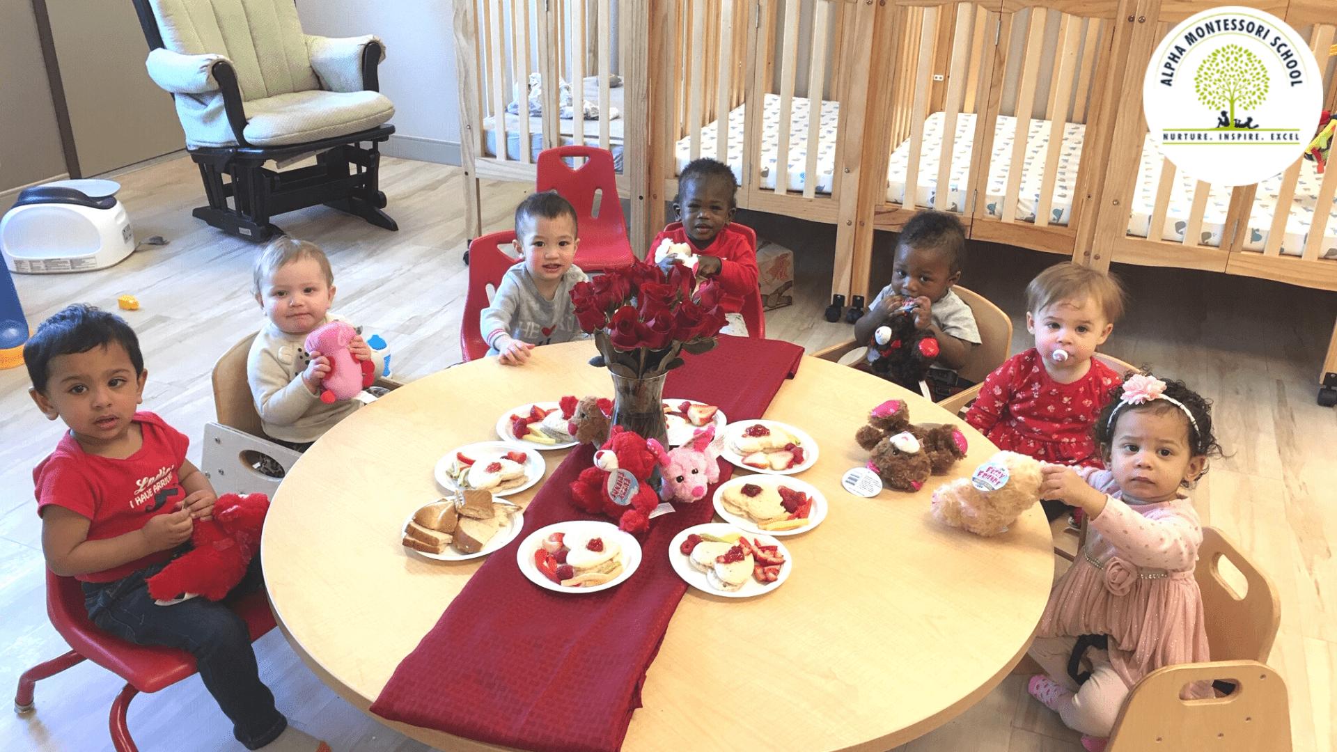 Valentines day in Alpha Montessori School