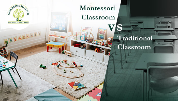 Montessori vs Traditional Classroom - Alpha Montessori School