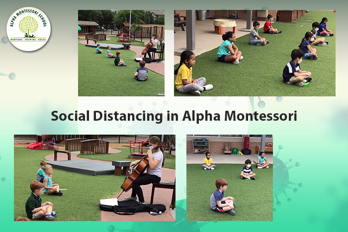 How Alpha Montessori Maintains Social Distancing in the School Playground