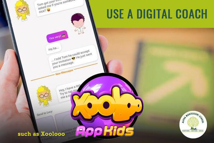Use-digital-coach-xooloo-Digital-education-to-children-Alpha-Montessori